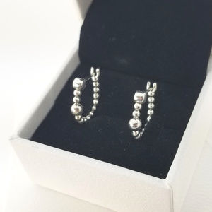 Pandora String Of Beads Hoop Earrings # 297532